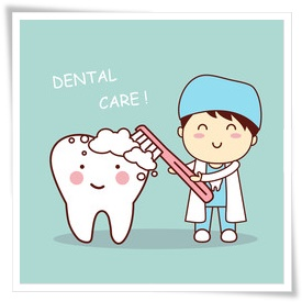 歯医者さんの歯磨き