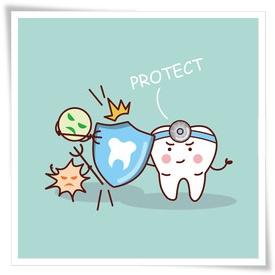 歯の保護イラスト