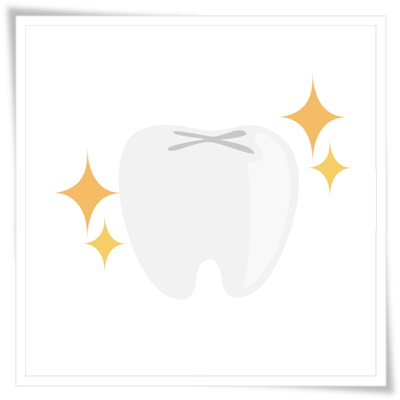 白い歯のイラスト