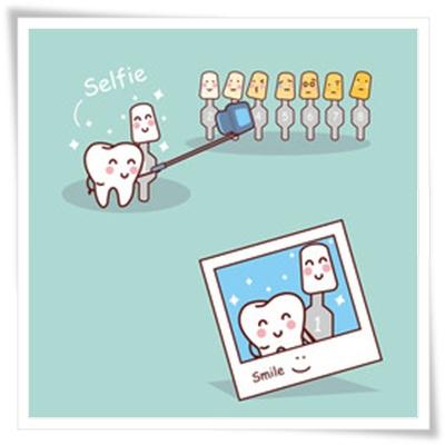 歯の色を白くするイメージ
