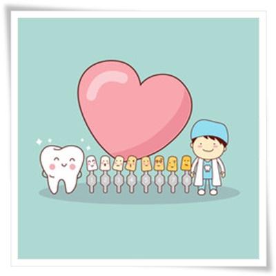 歯医者さんと歯の色ならび