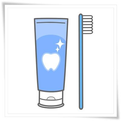 歯磨きペーストのイラスト