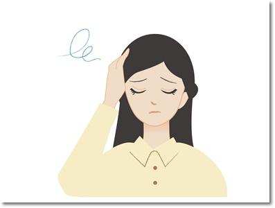 頭痛のイラスト。酵素で頭痛が治りました