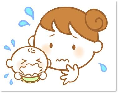 赤ちゃんのぐずりイラスト
