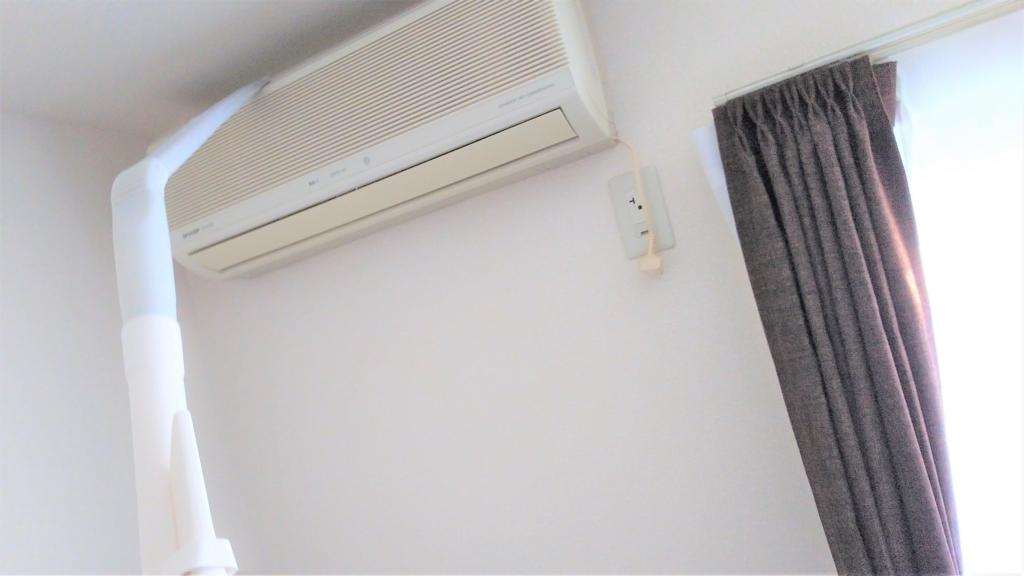 レス吸隊でエアコン掃除する画像