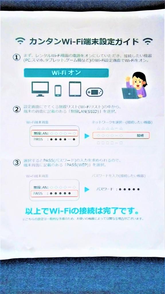 モバイルピースwifiルーター設定説明書の画像