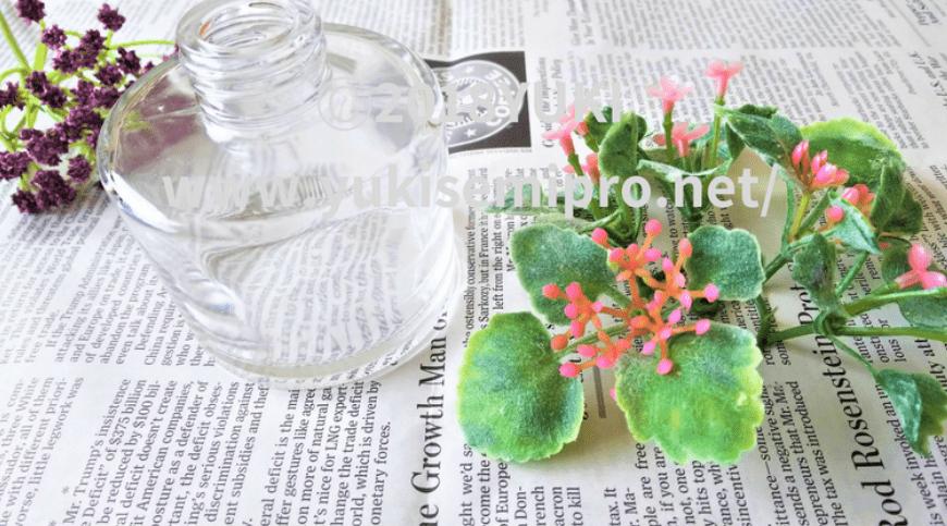 ハーバリウムの容器と花材の画像