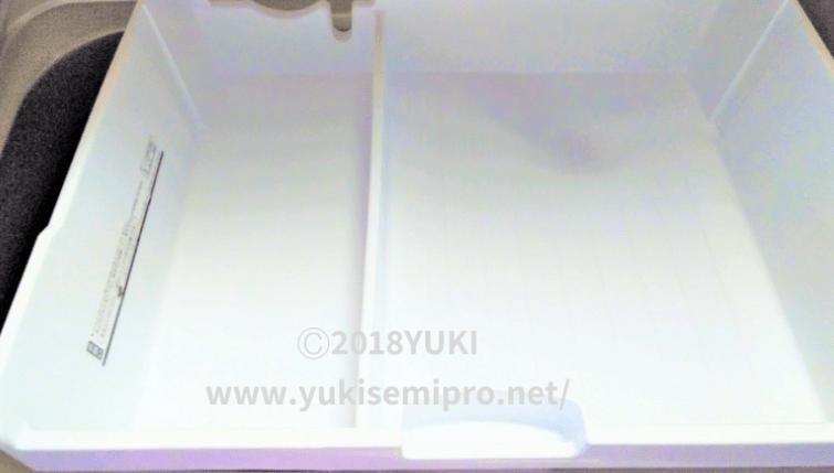 冷蔵庫の冷凍室のスライドケースの画像