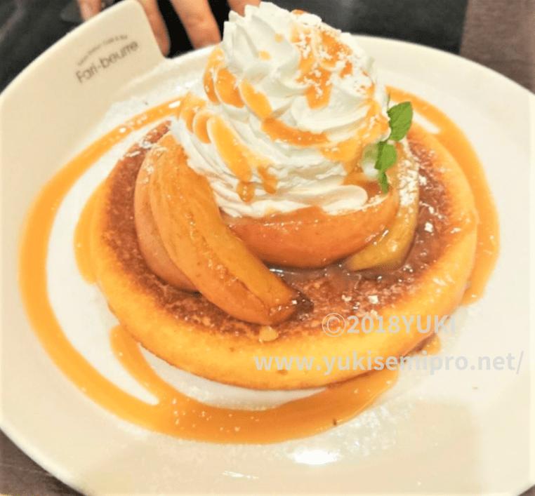 ファリ・ブゥール「焼きりんご&キャラメルソース」パンケーキの画像