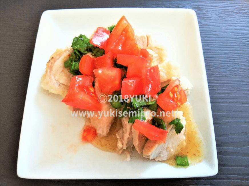 大谷翔平料理「ゆで豚のニラソース和え」ドレッシング画像