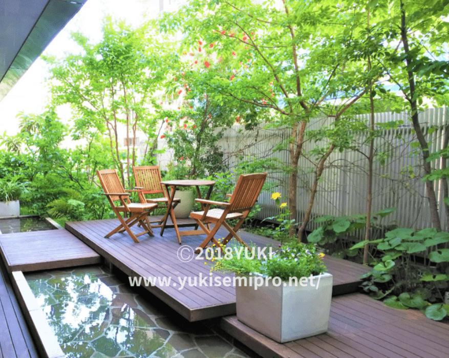 庭のホテル東京の中庭の画像