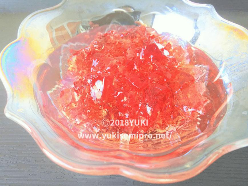 紫陽花ゼリーの画像