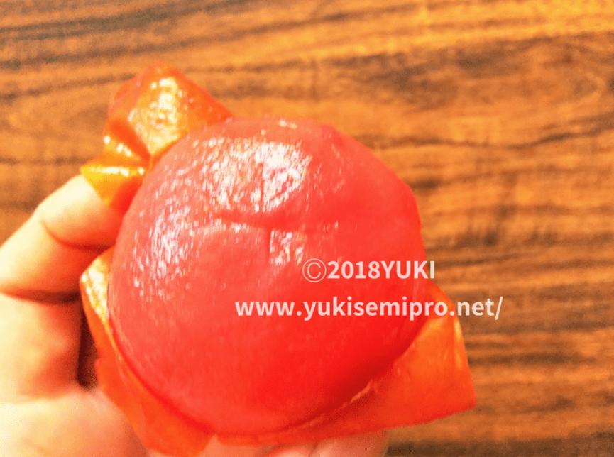 冷凍トマトの皮むき画像