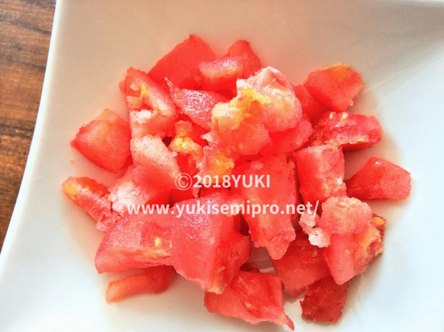 冷凍カットトマトの画像