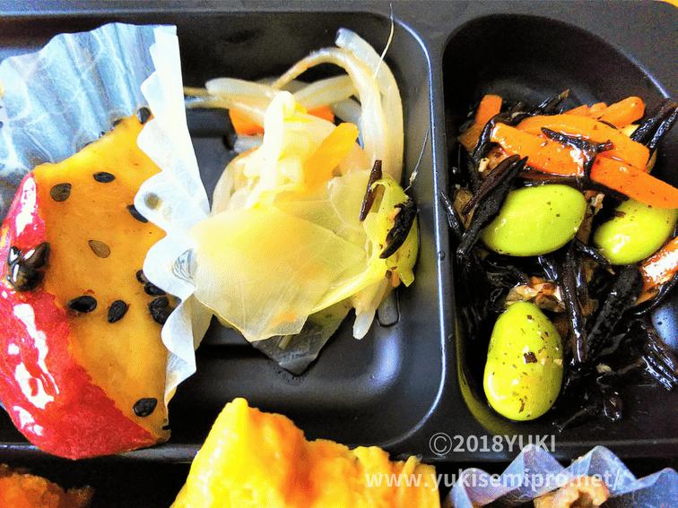 セブンイレブン弁当の副菜の画像