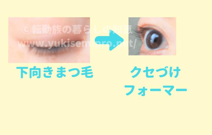 クセづけフォーマーを使用する前後の目の画像