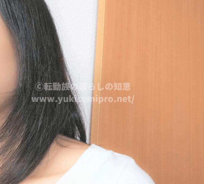 キャンドゥ版タングルティーザー使用後の髪の画像