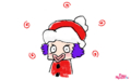 [wallpaper][download]ニャザルー・サンタのくるくるクリスマス下書