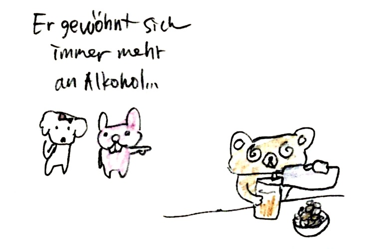 immer mehr an Alcohol