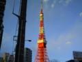 夕陽の東京タワー