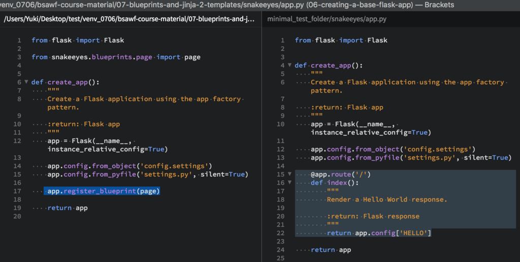 snake section 7 blueprints and jinja 2 templates yukking3 s blog