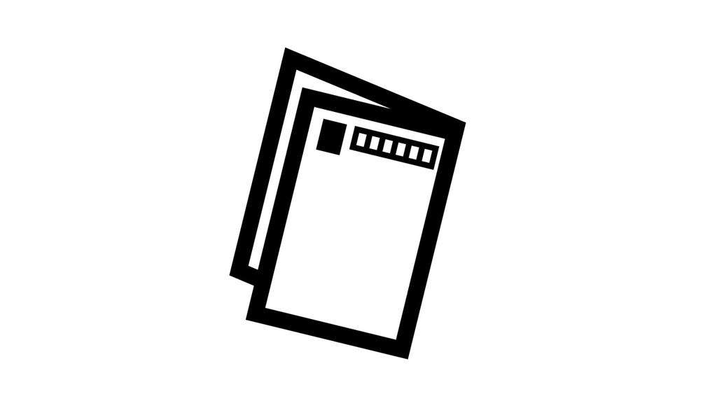 郵便ハガキのイラスト