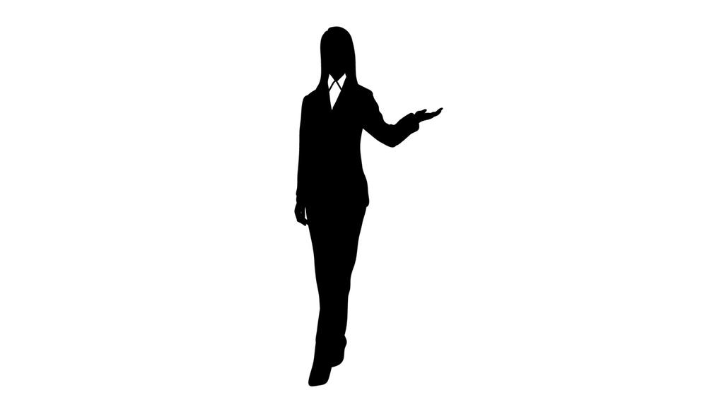 立っている女性のイラスト