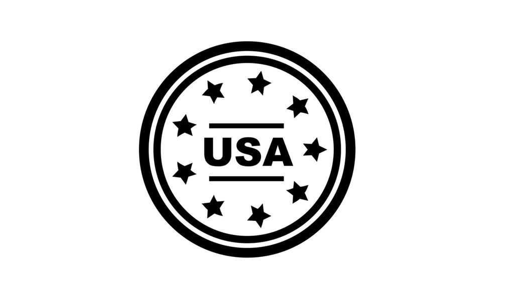 USAの丸型ロゴ