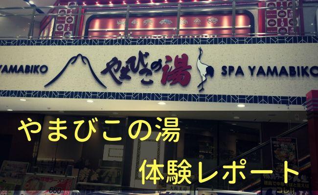 やまびこの湯ベガロポリス仙台南店に行ってみたよ