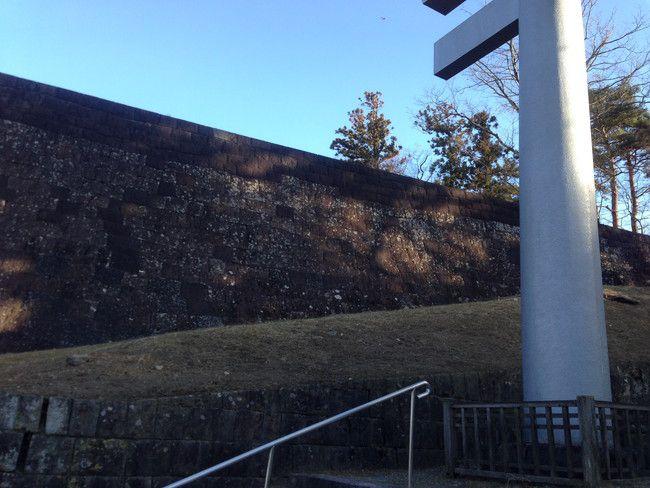 別の角度からみた石垣
