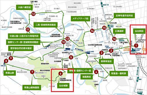 循環バスマップ