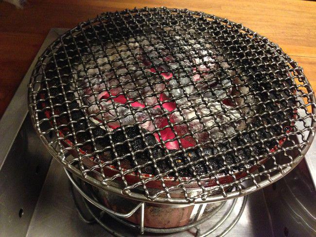 焼肉サントキの七輪備長炭到着