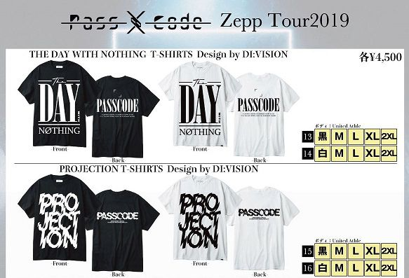 PassCodeのライブTシャツ