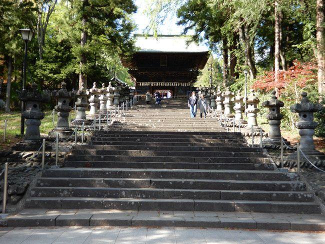 仙台東照宮、御朱印、御朱印張をいただいてきたので紹介、石燈籠が並ぶ長い階段をあるきます