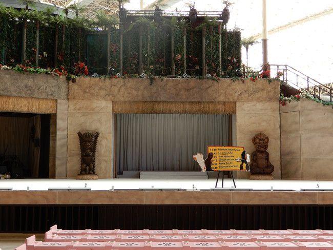 ハワイアンズショーの有料座席の見え方や選び方、実際の見え方、SS席:1番後ろの真ん中(前から6列目)
