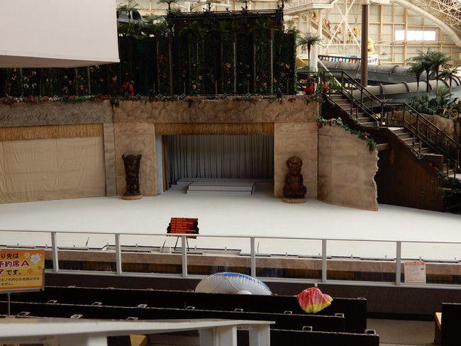 ハワイアンズショーの有料座席の見え方や選び方、実際の見え方、2階B席:右側4列目