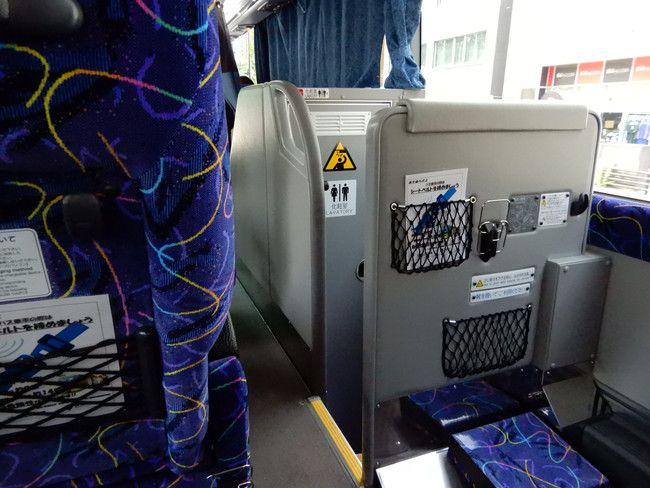 乗車体験記、東北急行バスニュースター号3列シート、トイレがあるから安心