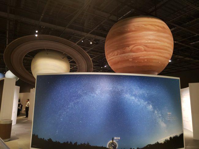仙台市天文台の天井にはでっかい惑星