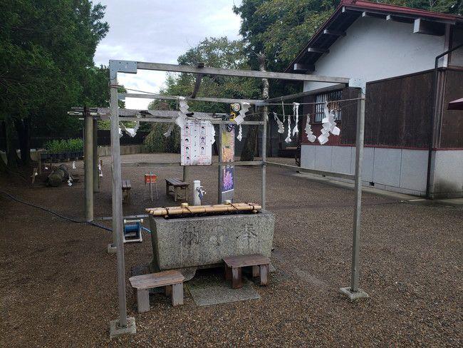 縁結びで有名な二柱神社の手水舎