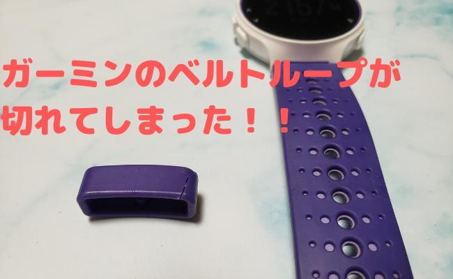 【簡単交換】ガーミンのベルトループ(遊環)が切れてしまった時の修理方法!