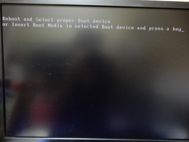 Reboot and Select Proper Boot Deviceの現象ってなに?