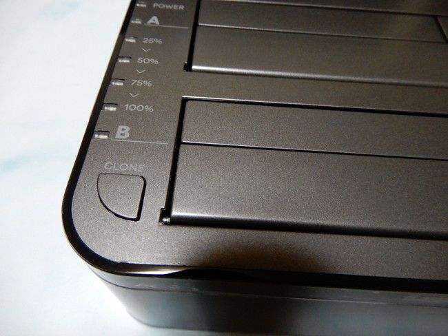 HDDを丸ごとコピーできる機器はCLONEを押すとコピーしてくれる