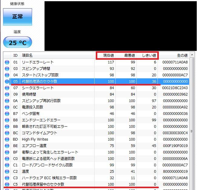 にHDDの寿命をチェックできるツール画面