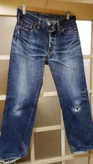 1000回以上穿いたフラッドヘッドデニムの経年変化、色落ち、全体画像1