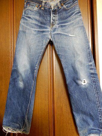 1000回以上穿いたフラッドヘッドデニムの経年変化、色落ち、全体画像3