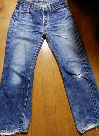 1000回以上穿いたフラッドヘッドデニムの経年変化、色落ち、全体画像4