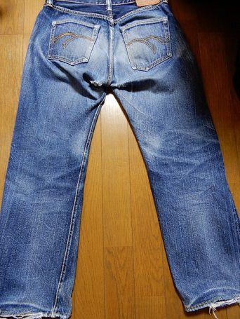 1000回以上穿いたフラッドヘッドデニムの経年変化、色落ち、全体画像5