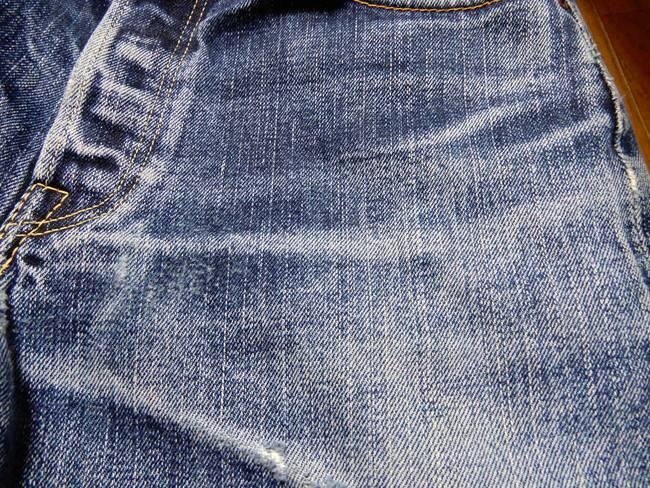 1000回以上穿いたフラッドヘッドデニムの経年変化、色落ち、どしゃぶり