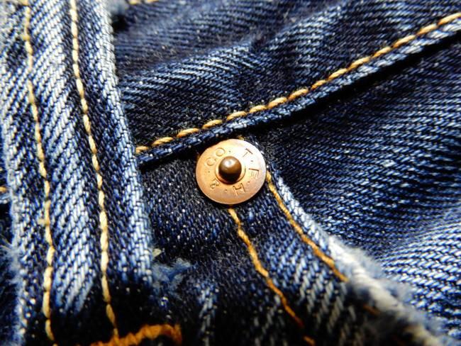 1000回以上穿いたフラッドヘッドデニムの経年変化、リベットは変化なし