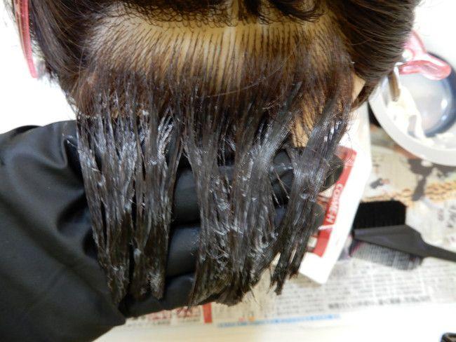 中の前髪は根元ギリギリから塗っていい